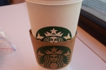 Caramel Hot Chocolate from Starbucks in the train