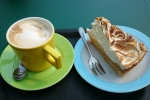 Delicious Cappuccino and lemonmeringue cake!