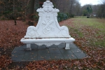 White bench - Palace Soestdijk - 1 Dec. 2013