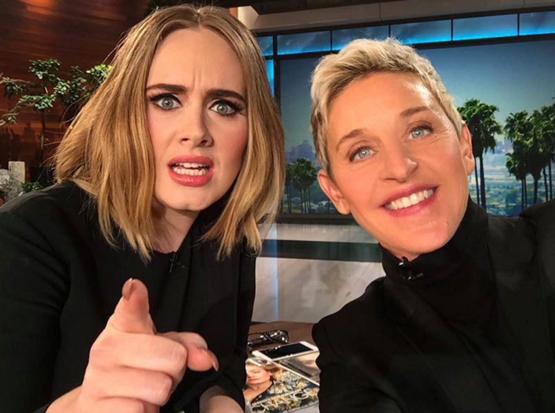 Adele and Ellen Degeneres